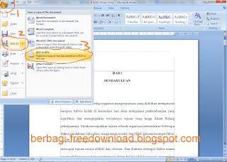 Cara Merubah File Word ke PDF