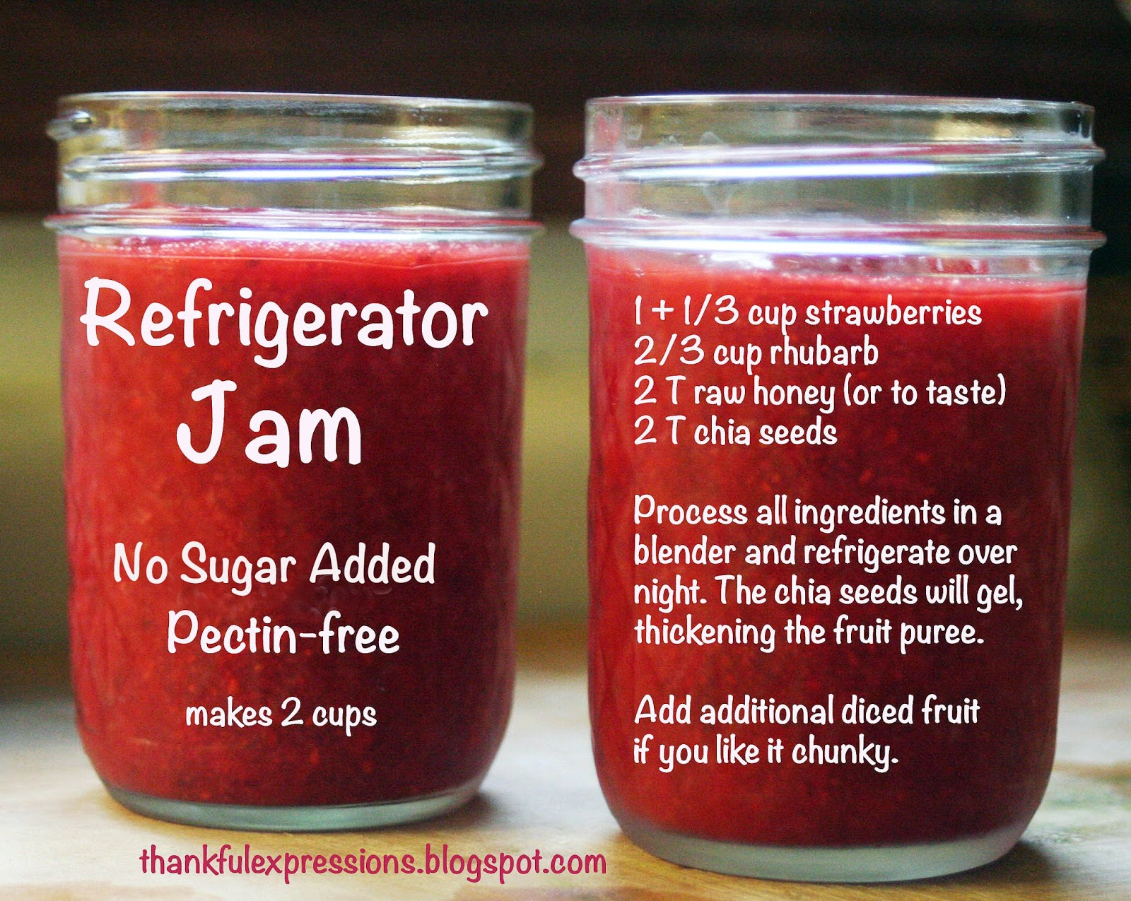 Thankful Expressions: Strawberry-Rhubarb Refrigerator Jam