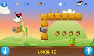 Screenshots of the Ninja Chicken for Android tablet, phone.