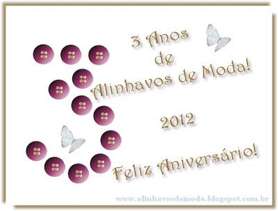 Feliz Aniversário! www.alinhavosdemoda.com.br