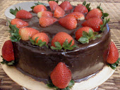 STRAWBERRY MOIST CHOC CAKE LAYERED WITH CHEESE