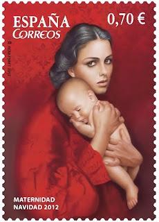 Sello de Navidad 2012 -Enrique Jimenez Carrero