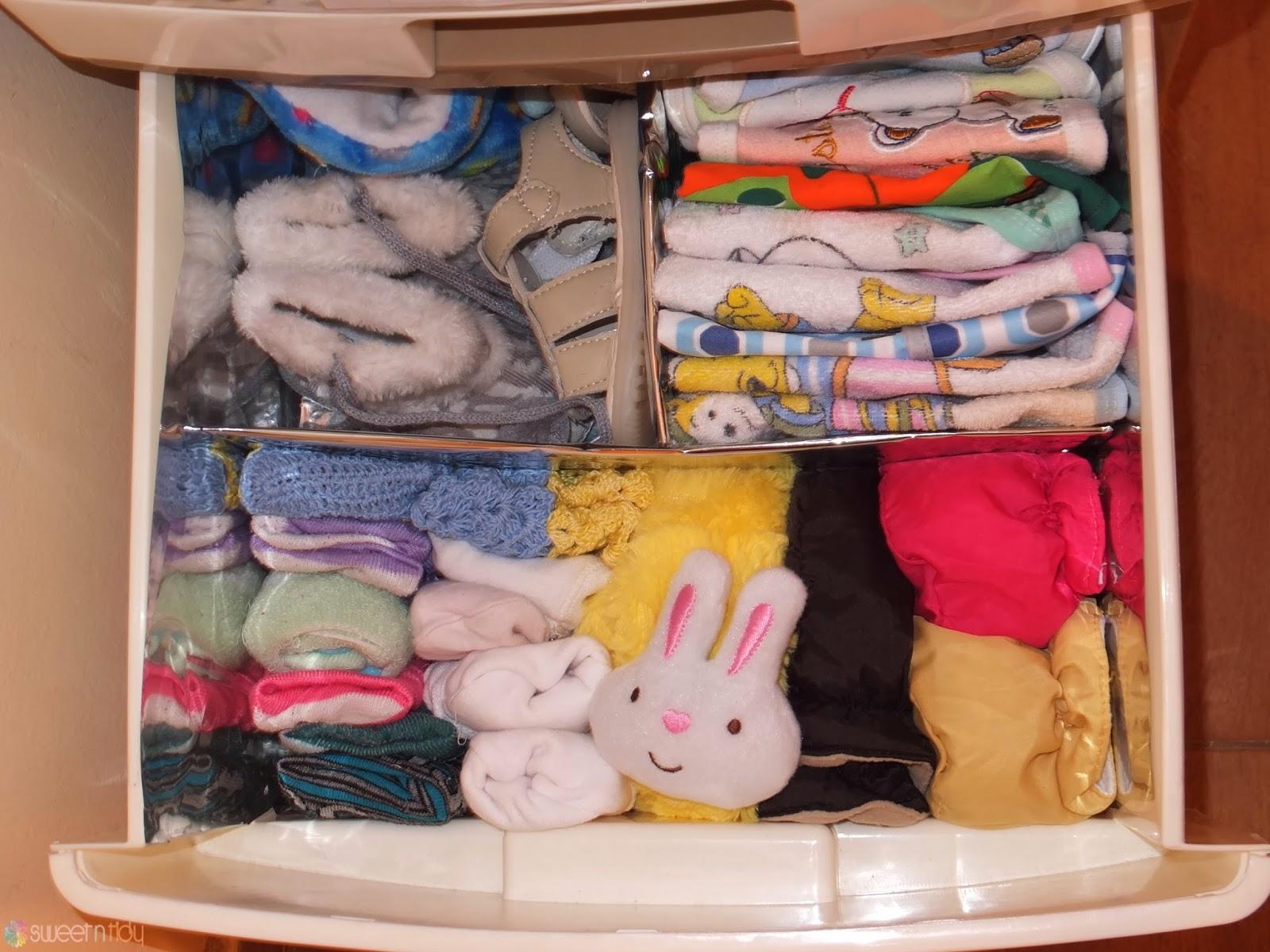 Nursery organizing - My baby dresser