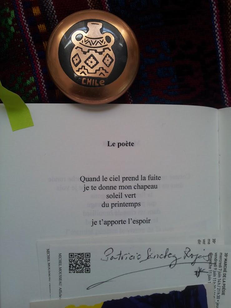 Patricio SANCHEZ ROJAS - Poèmes écrits dans un Café - Montpellier-France- 1991.-