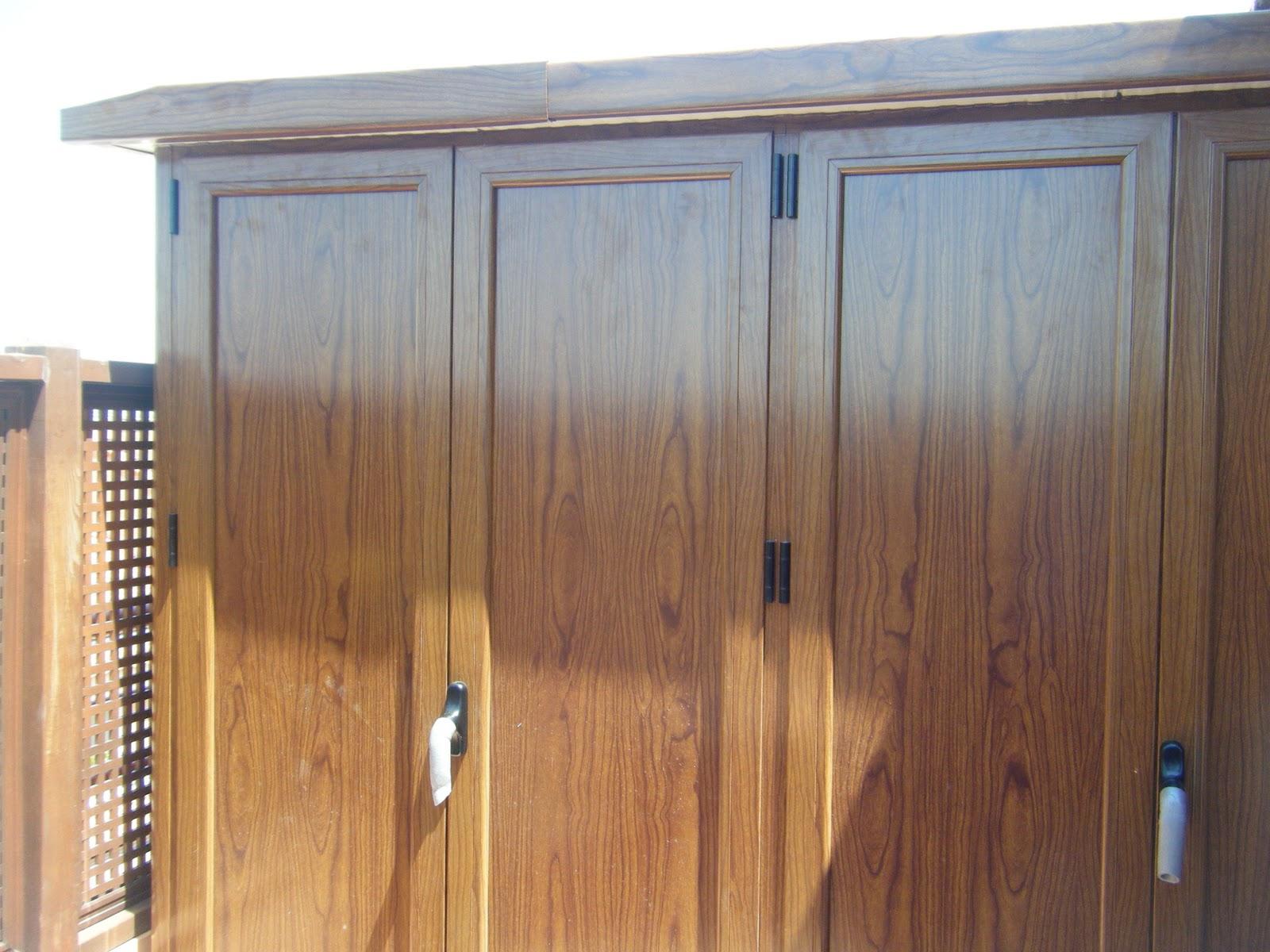 Aluminios alusa armario imitacion madera for Armarios para terrazas