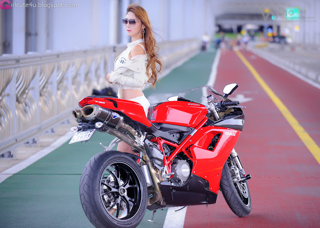 5 Jo Ye Jin and Ducati-very cute asian girl-girlcute4u.blogspot.com