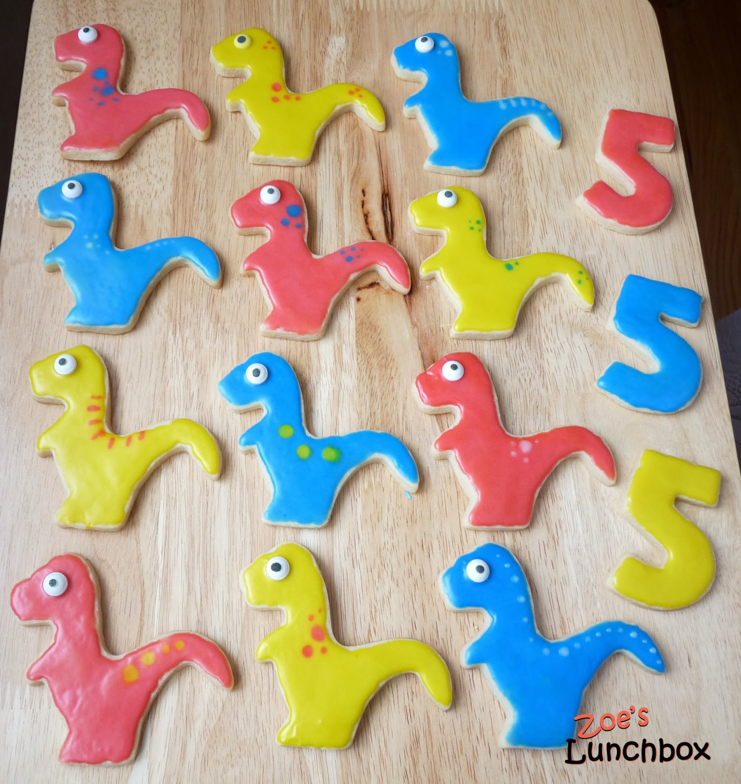 Dinosaur Cutout Cookies