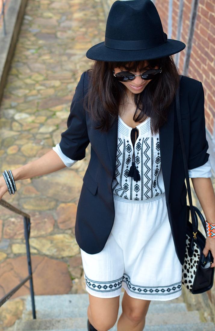 Boho White Dress Street Style