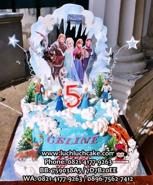 Kue Tart Frozen Princess Elsa Daerah Surabaya - Sidoarjo