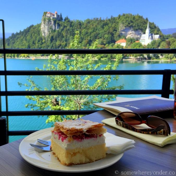 Cream Cake in Lake Bled, Slovenia