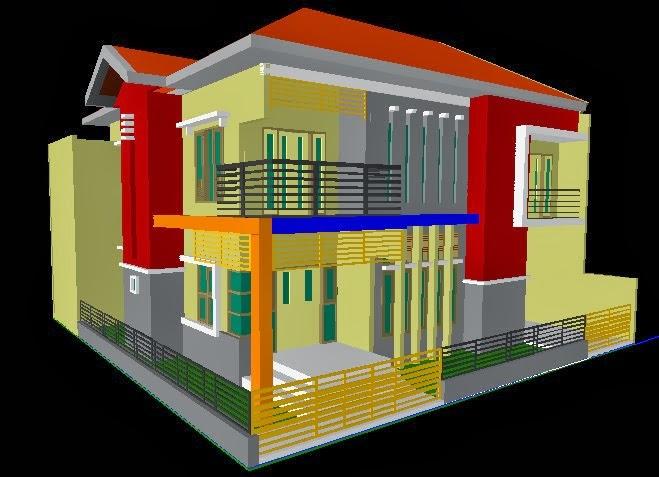 Foto 3D Desain Rumah 2 Lantai
