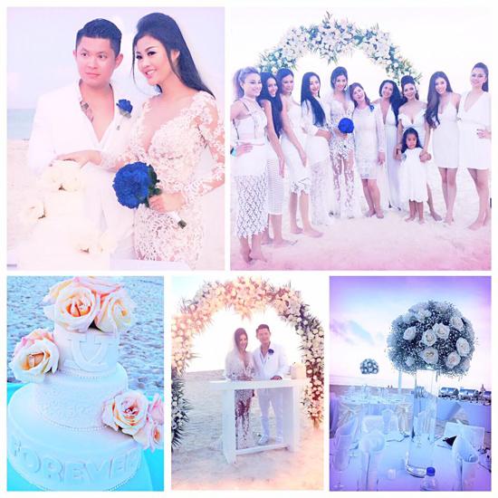 Julia Hồ đã có lễ cưới lãng mạn bên bờ biển của khách sạn HarRock, Cancun, Mexico