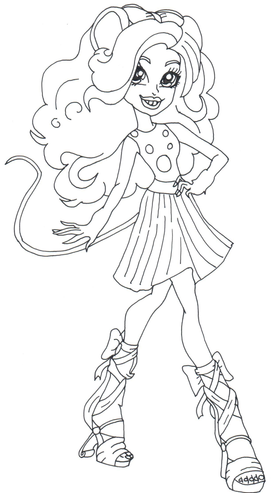 Free printable monster high coloring pages mouscedes king for Print monster high coloring pages