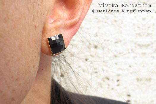 Boucles d'oreilles noir Viveka Bergström