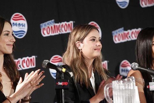Troian Bellisario and Ashley Benson at New York Comic Con