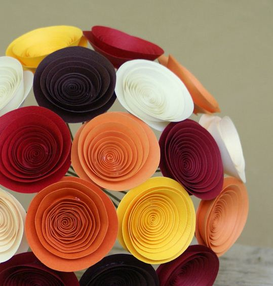 Winnerdogfinds handmade paper flowers in bouquet or stems for Easy handmade flowers