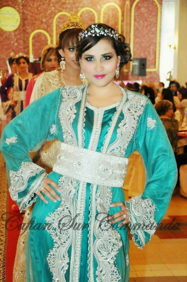 caftan mariage turquoise