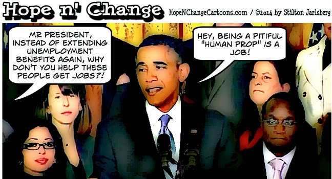 obama, obama jokes, cartoon, hope n' change, hope and change, stilton jarlsberg, conservative, tea party, economy, jobs, unemployment, benefits, speech, props