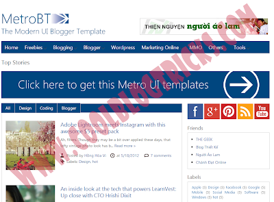Metro BTK V2 - Impressive Blogger Template