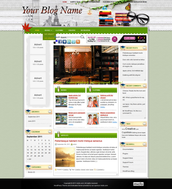 Leisure Magazine WordPress Theme