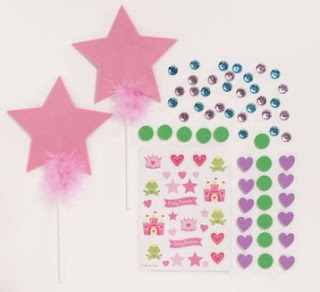 Pretty Princess Face Painting Kit & Princess Wand Making Kit