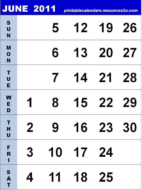 june 2011 calendar printable free. Free 2011 Calendars with