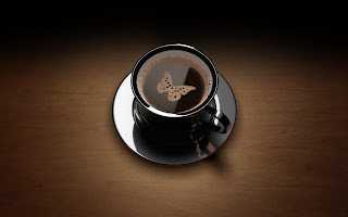 3d Butterfly Coffee HD Love Wallpaper