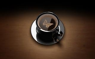 3d Butterfly Coffee HD Love Wallpaper