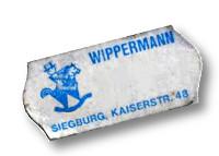 Altes Preisschild des Spielwarengeschäftes Wippermann in Siegburg