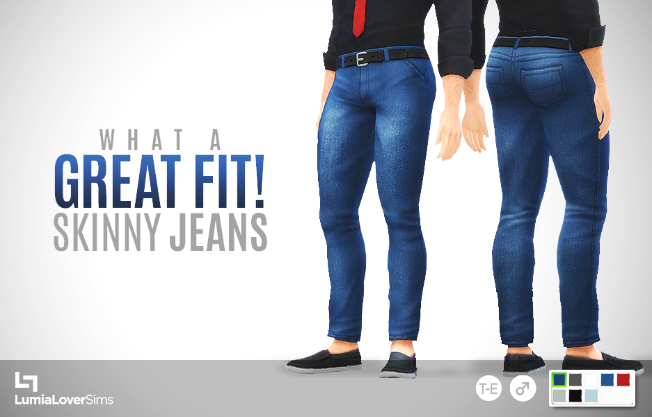 My Sims 4 Blog: What A Great Fit Skinny Jeans for Males by