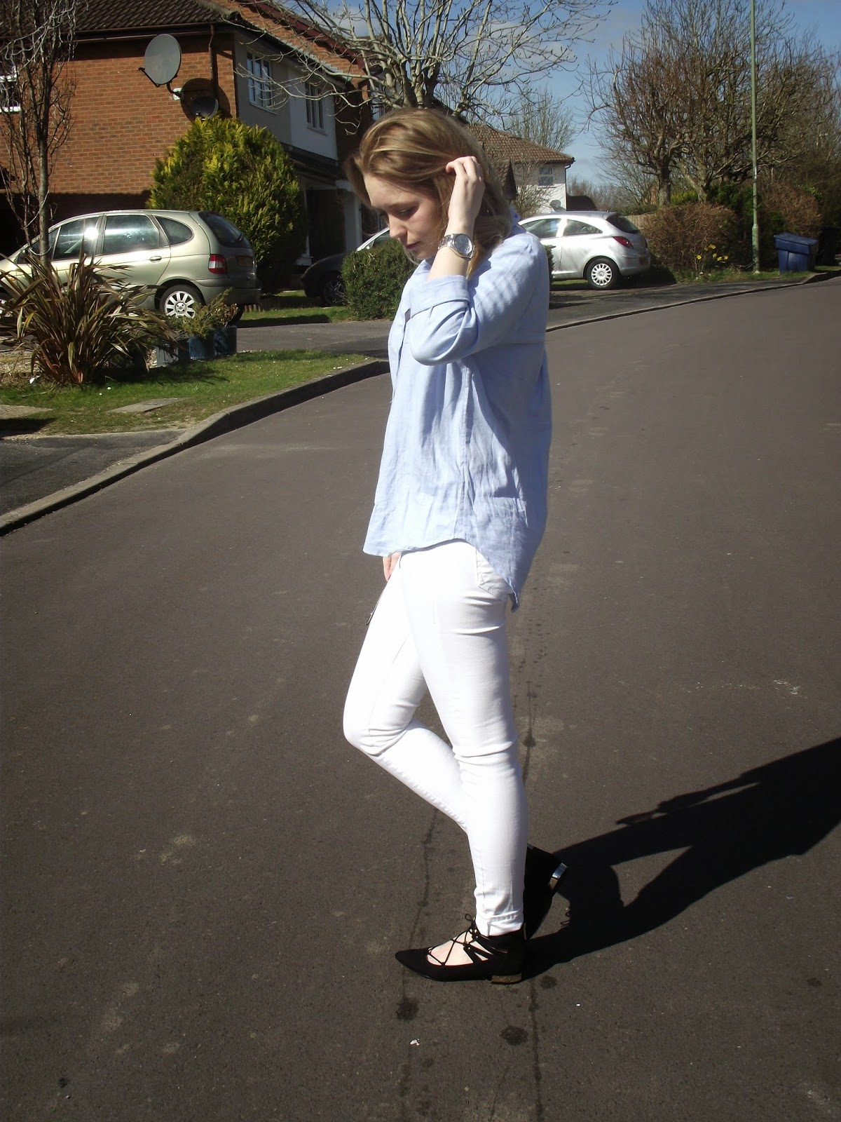 Spring Denim Outfit Post on Laura Rebecca Smith Fashion Blog