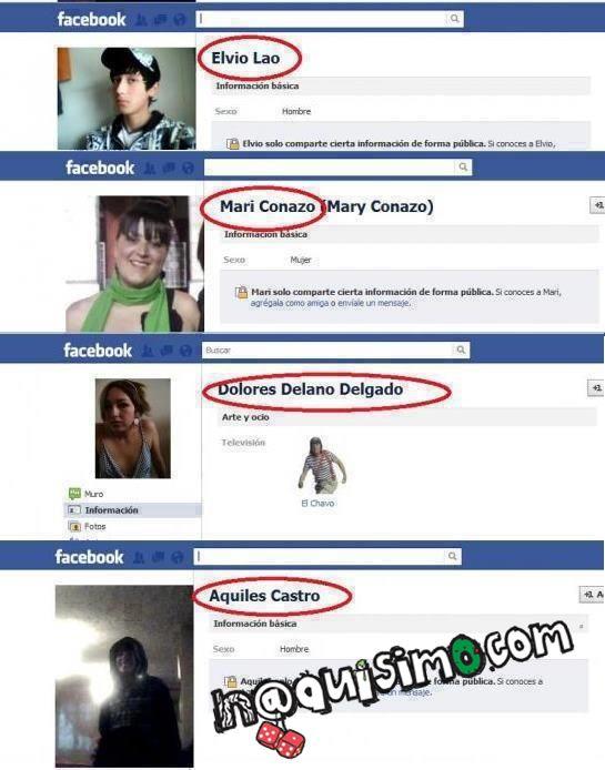 Nombres FAIL facebook
