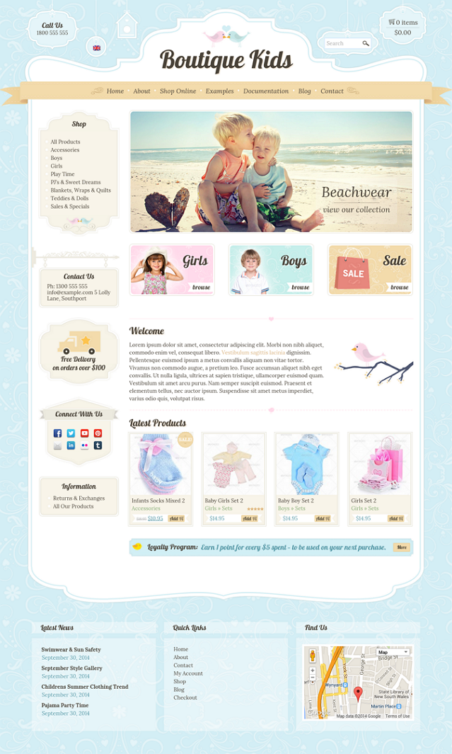 Kids Creative WordPress WooCommerce Theme