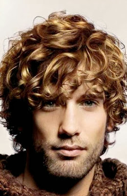 Curly hair men style
