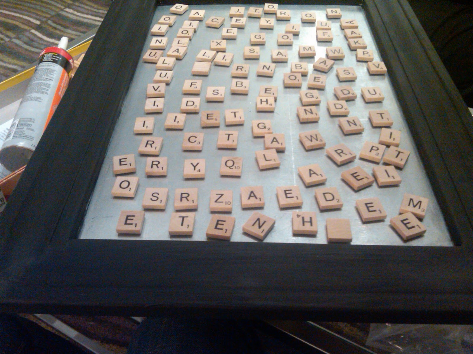 house stuff works: magnetic scrabble board art