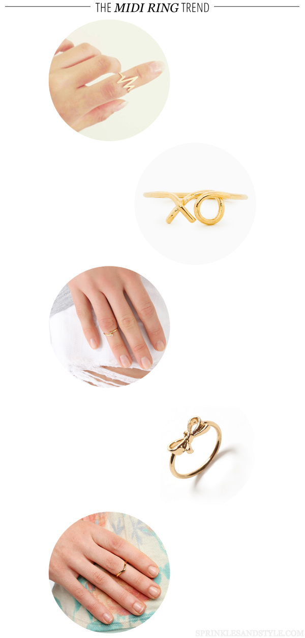 Sprinkles and Style || The Midi Ring Trend
