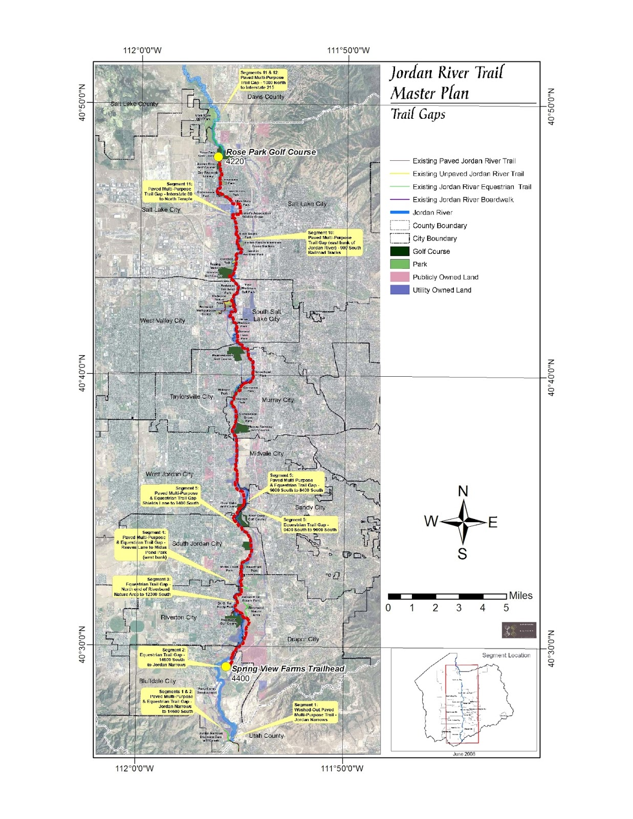 this post is a brief description of the jordan river route from the spring view farms trailhead in bluffdale to the rose park golf course in the north rose