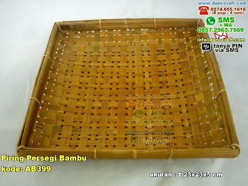 Piring Persegi Bambu