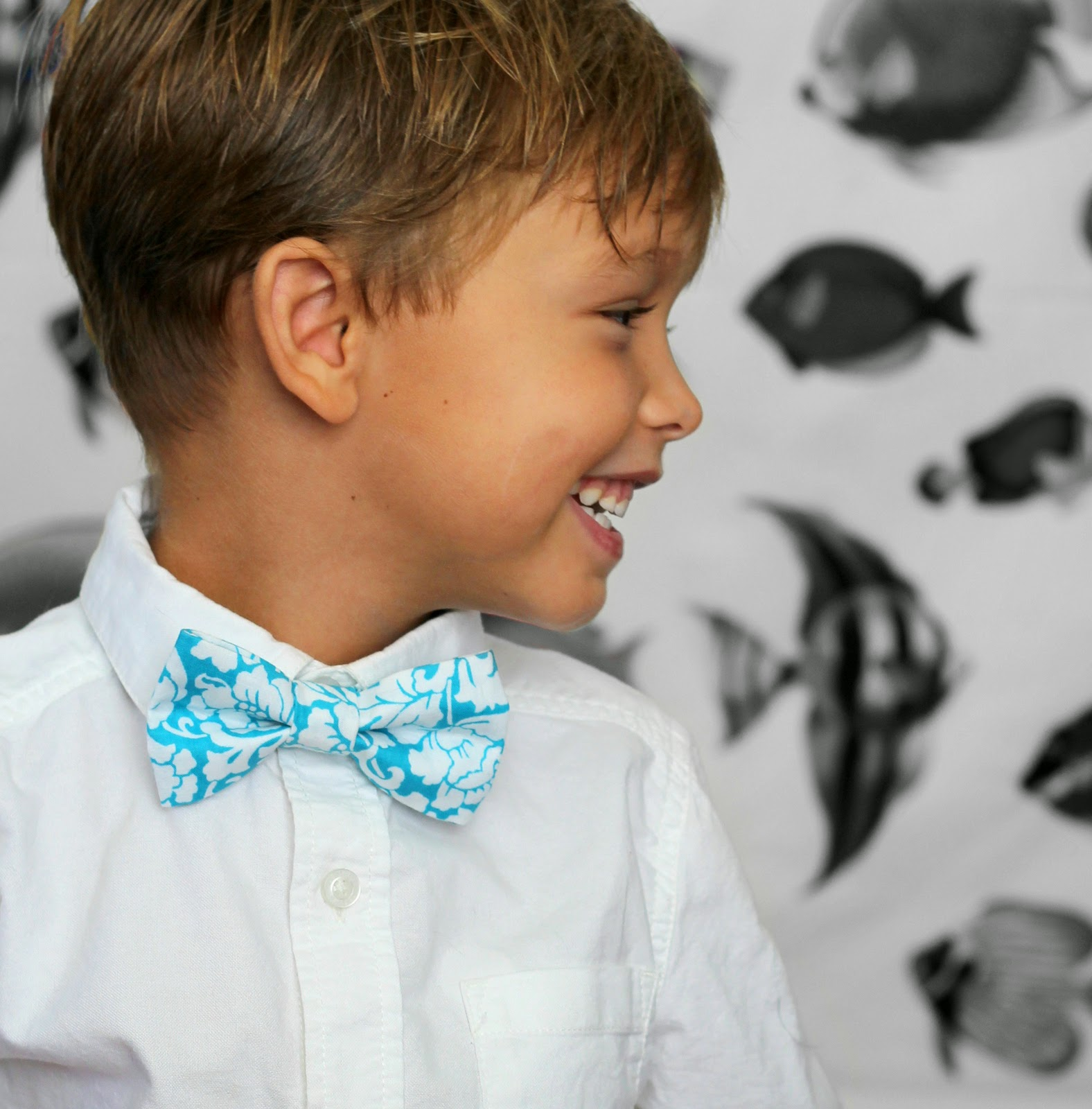tropical turquoise blue bow tie, mens and boys sizes