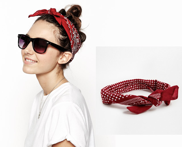 This is hot to roll bandana up as a headband