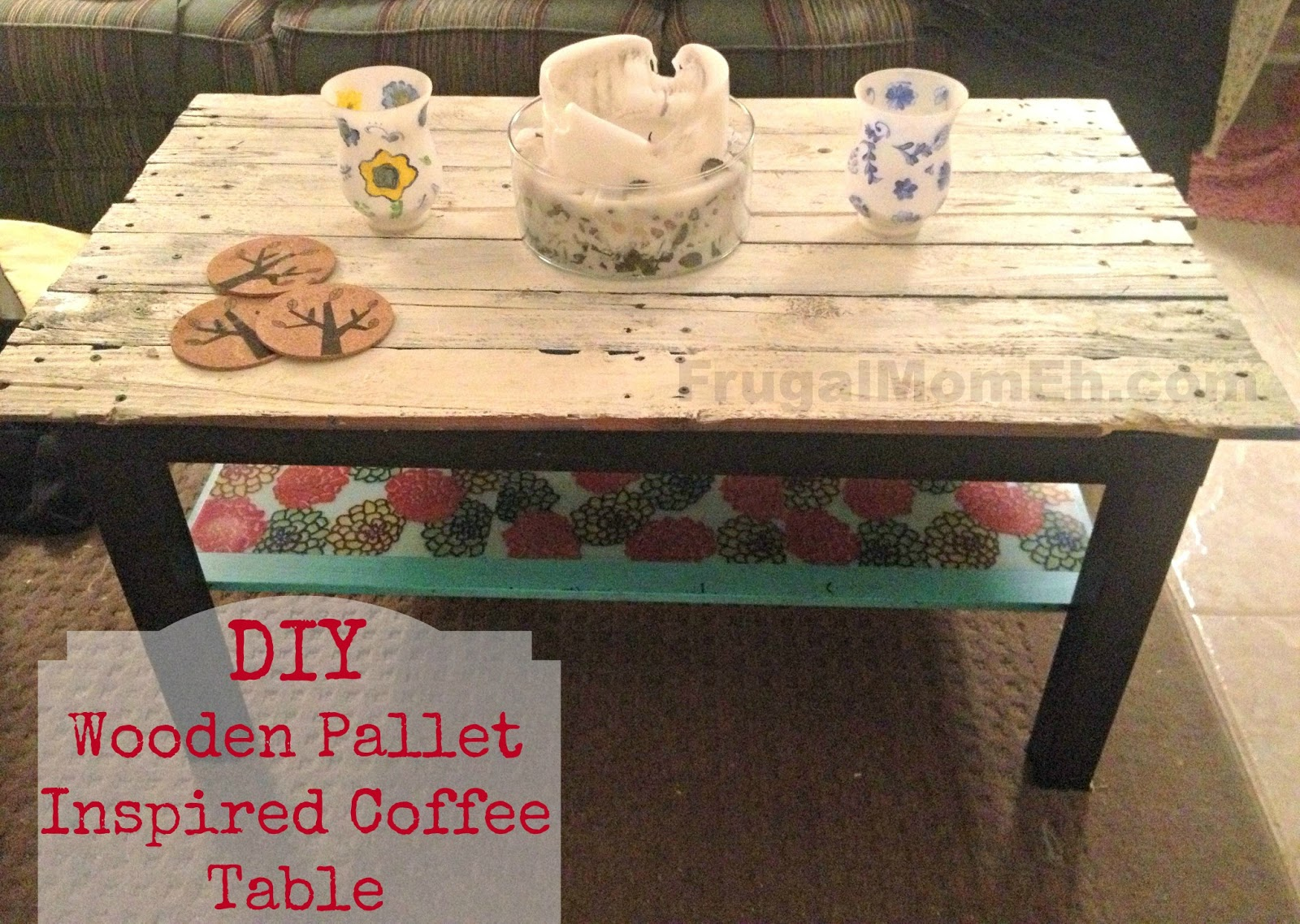 DIY Wooden Pallet Inspired Coffee Table - Frugal Mom Eh!