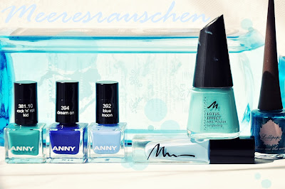 Blaue Nagellacke // Blue Nail Polishes