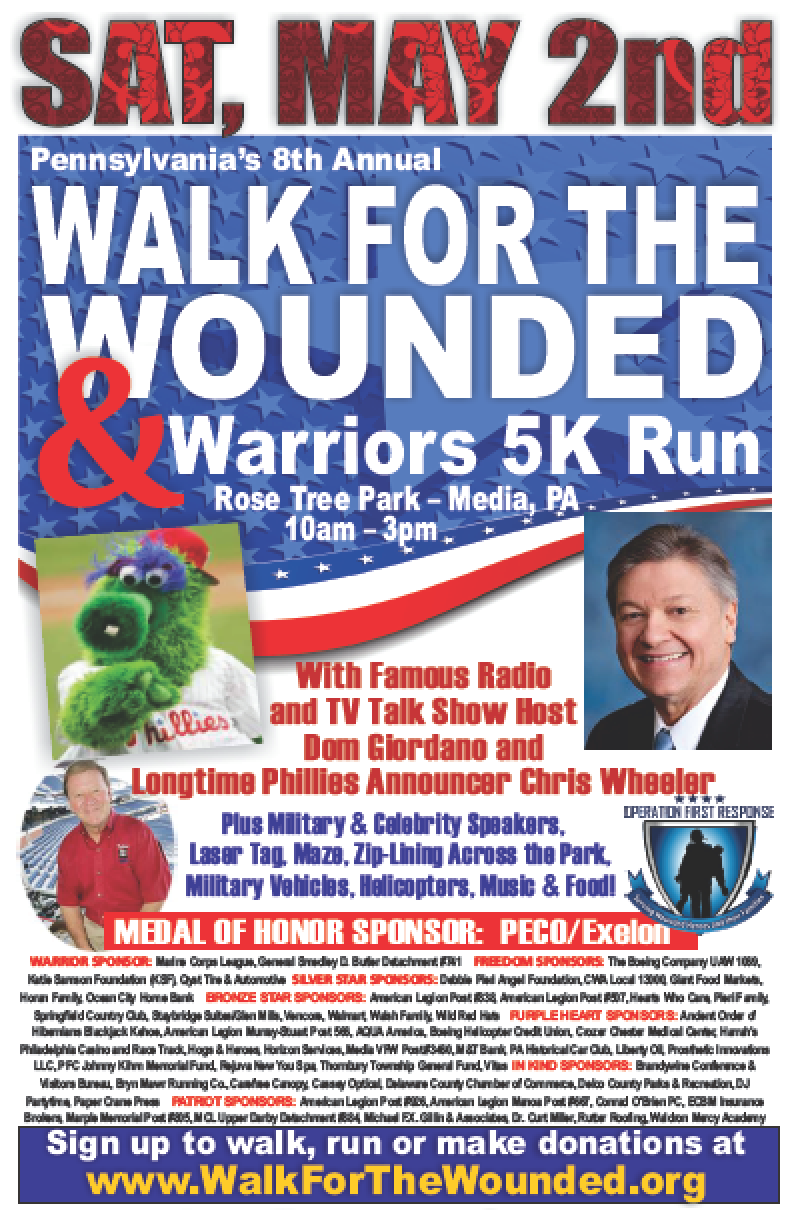 Walk for the Wounded and 5k Run