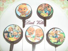 Coklat lolipop - edible image