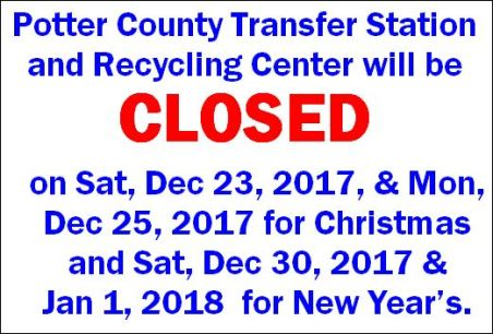 12-23/25/30 1/1 Transfer Station/Recycling