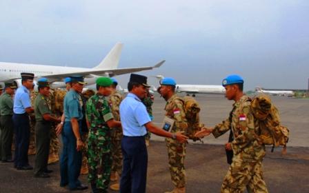 TNI Berangkatkan Kontingen Garuda ke Lebanon