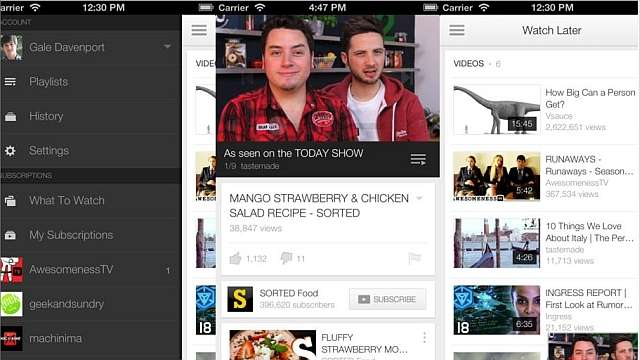 YouTube for iOS and Android updated with new user interface (UI) and Picture in Picture