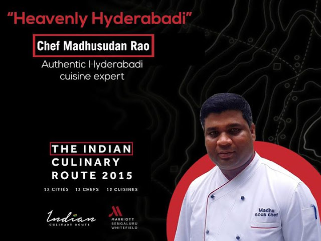 Indian Culinary Route Whitefield Marriott Bangalore, Chef Madhusudan Rao