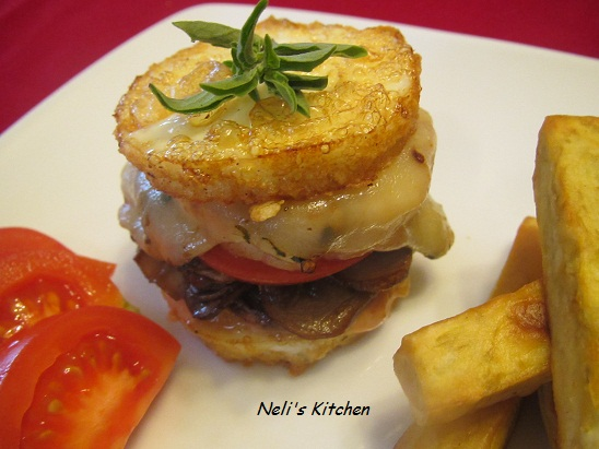 Scallop in Egg White Mini Burger - Diabetic Burger