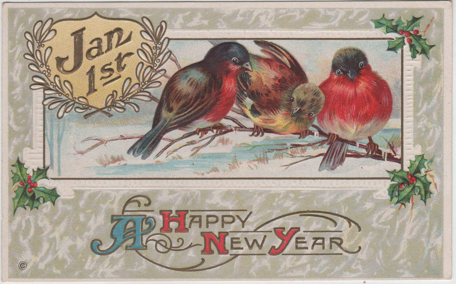 vintage everyday: Wish You a Happy New Year!